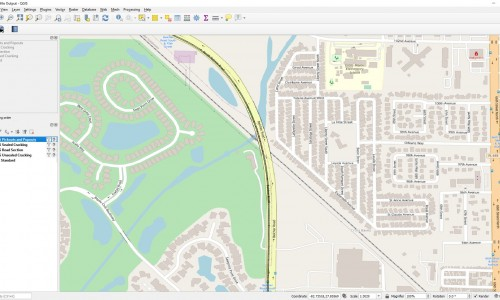 Shapefile - Road Sections map overlay