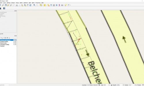 Shapefile - Road Section Zoom on Map