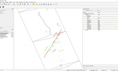 Shapefile - Road sections distresses